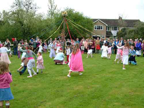 Maypole Dancing on Towersey's Village Green