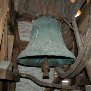 One of the four bells at St Catherine's Towersey